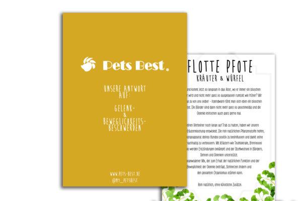 Pets Best Flyer natürliche Kräuter für Hunde FlottePfote