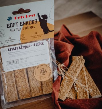 Kesses Kaenguru Soft Snacks fuer Hunde von Pets Best